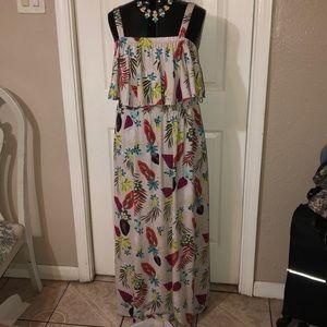Beautiful tropical pattern dress
